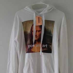 Womens Mona Lisa Screen Print Hoodie